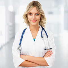 Young female doctor on clinic
