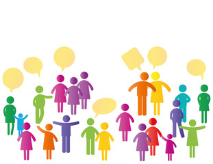 Colorful people pictograms