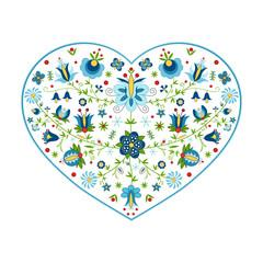 Fototapeta Polski folklor kaszubski w kształcie serca obraz