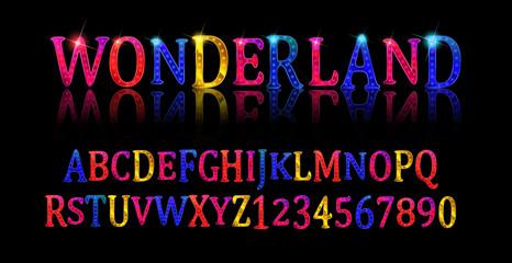 Wonderland font. Fairy ABC.