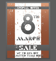 8 March Happy Women's Day sale banner.