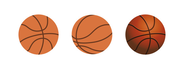 Vector Basketball isolated on a white background. Fitness symbol.