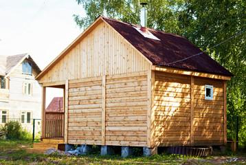 wooden house bathhouse