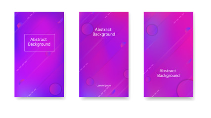 Modern cover in a minimalist style. Gradient, neon, lines, forms. Vector. Color geometric gradient, abstract background.