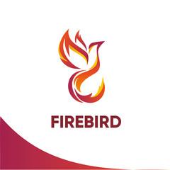 Firebird logo template