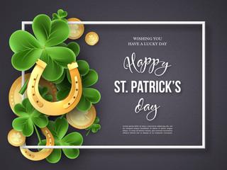 St. Patricks Day greeting holiday design.