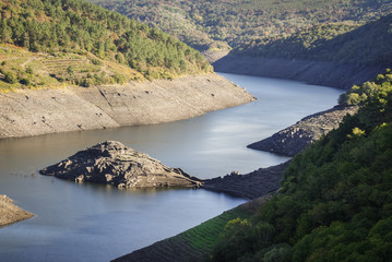 Archaeological remains of a Celtic castro are discovered when the reservoir level drops