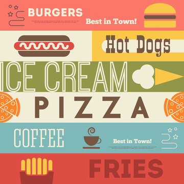 Fast Food Retro Background
