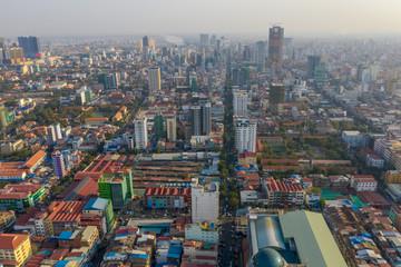 Landscape Phnompenh on January - landsmarks Cambodia - 31 Jan 2019