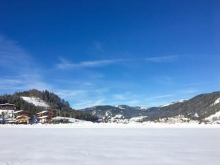 scenic winter snow landscape in Tirol, Aschenkirch