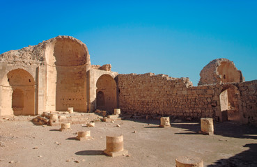 Remnants of an ancient Christian church in the Nabatean city of Avdat