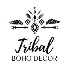 Tribal, boho, ethnic decor vector