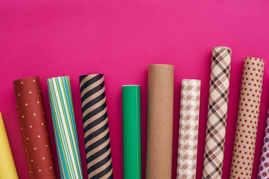 Gift Packaging. Choose your own colorful wrapping paper design.