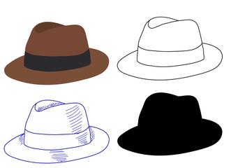 men's hat, headgear Wall mural
