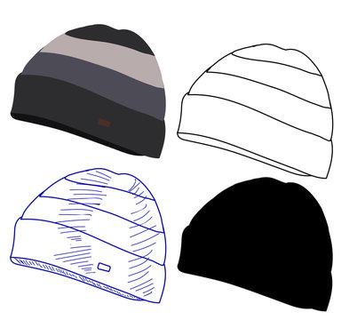 white background, winter hat, headgear