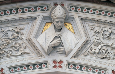Florentine Saints, Portal of Cattedrale di Santa Maria del Fiore (Cathedral of Saint Mary of the Flower), Florence, Italy