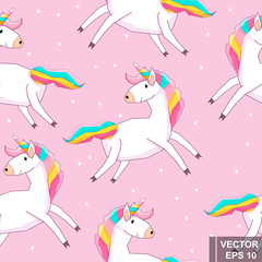 Unicorn. Magic. Cartoon style. Bright. Emotions. For your design
