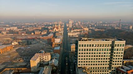 Fototapeta The city of Łódź, Poland obraz