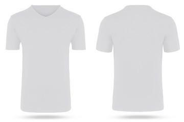 T-Shirt freigestellt hollow man v ausschnitt