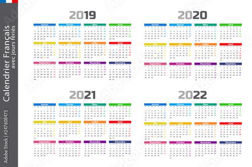 Calendrier 2021 Avec Semaine.Calendrier Ferie 2020