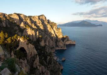 aerial view in Capri, Italy