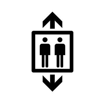 Black elevator icon symbol