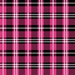 Pink Buffalo Plaid Seamless Pattern - Classic buffalo plaid pattern design