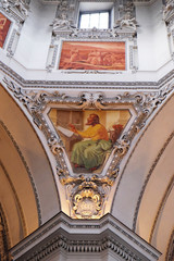 Saint Luke the Evangelist, fragment of the dome in Salzburg Cathedral