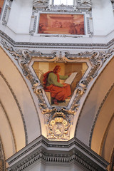 Saint John the Evangelist, fragment of the dome in Salzburg Cathedral