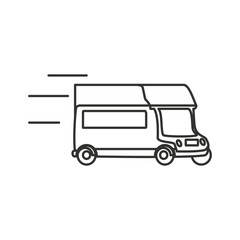 delivery car isolated icon