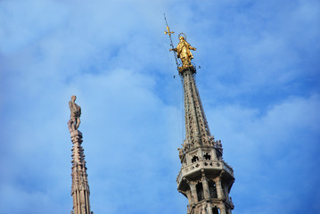 Fototapete - Milano - La Madunina