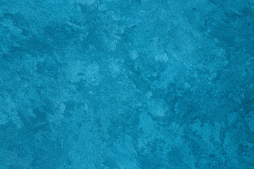 Texture of blue decorative plaster.