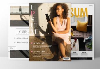 Magazine Cover Layout Set