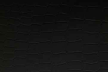 Crocodile skin black leather
