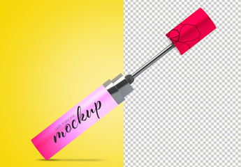 Open Mascara Tube Mockup