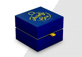 Square Jewelry Box Mockup
