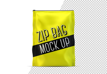 Zipped Bag Mockup