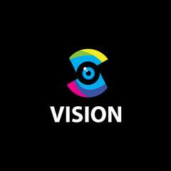 Eye Logo design vector template. Colorful media icon. Vision Logotype concept idea.