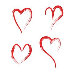 Hearts symbol vector