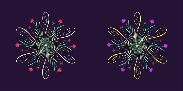 Floral flourish ornament in calligraphic style