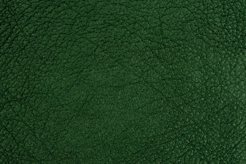 Dark green leather texture.