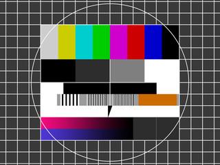 gz319 GrafikZeichnung - german - Kein Empfang / Störung: Testbild TV - simple template / close-up - xxl g7171