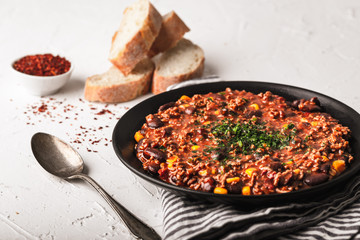 Tasty Chili con carne stew
