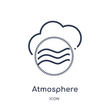 atmosphere icon from weather outline collection. Thin line atmosphere icon isolated on white background.