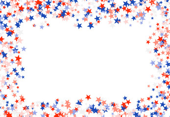 Presidents' Day in USA. Red, blue and white stars