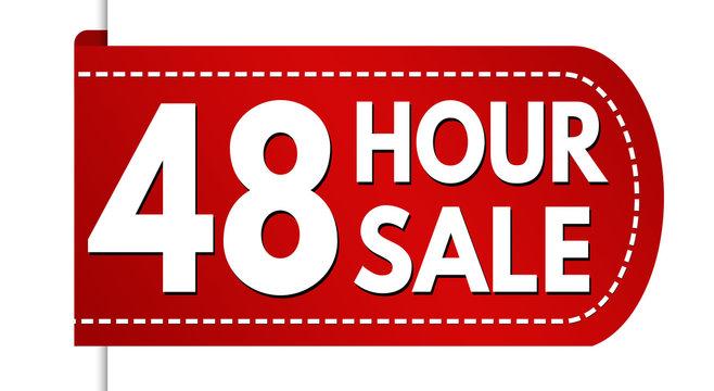 48 hour sale banner design