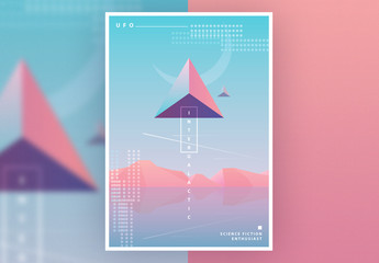 SciFi Poster Layout with Pastel Gradients