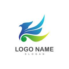 carving eagle logo design