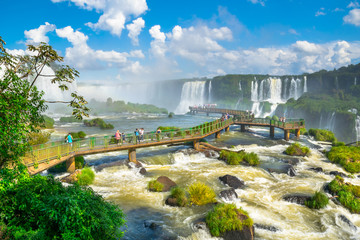 Acrylic Prints Brazil Beautiful view of Iguazu Falls, one of the Seven Natural Wonders of the World - Foz do Iguaçu, Brazil