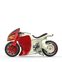 super motorcycle racer with no brand